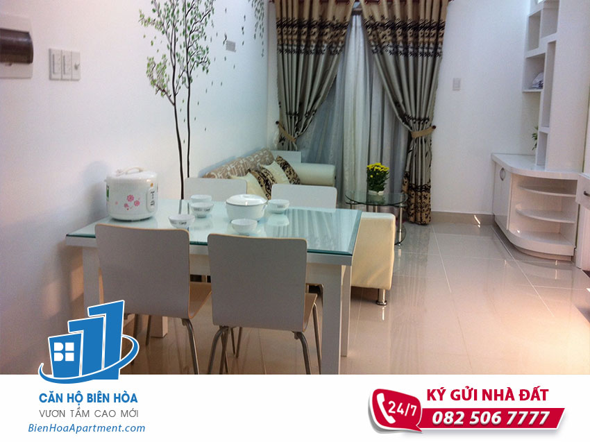 Pegasus Plaza Bien Hoa apartment for rent, 2 bedroom, nice furniture and high floor